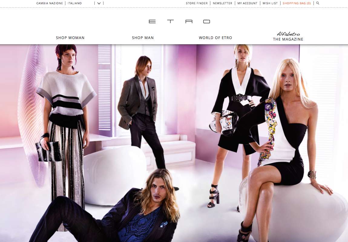 Etro shopping on line the shopping list for Etro arredamento